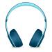 Beats Solo 3 Wirelessヘッドセットの動きを実行すると、ワイヤレス重低音バッグの耳式ヘッドセットの水色が折り畳まれます。