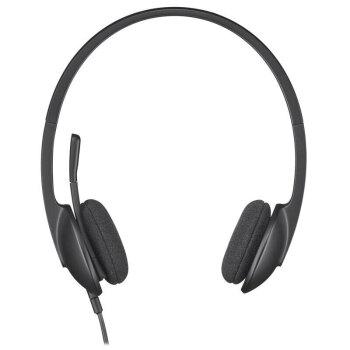 Logitech H 340ノートパソコンヘッドフォンマイクUSBインタフェースは、音楽H 340を装着することができます。