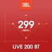 JBL(ジェイビエルエル)LIVE 200 BT首掛式無線Bluetoothイヤホンランニング入耳掛首式スポーツヘッドセット重低音ノイズキーランニングマグネットベルトマゼンタ(APP注文価格289)