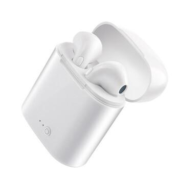 爱美声 真无线Bluetooth耳机双耳入耳式跑步音乐运动适用于メイズー苹果华为oppoMivivo安卓迷你小手机通用 白色【双耳+充电仓+充电线】